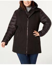 Calvin Klein - Performance Plus Size Hooded Jacket - Lyst