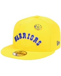 new styles 51eac d6c9c KTZ - Golden State Warriors Hardwood Classic Nights Pin 9fifty Snapback Cap  - Lyst