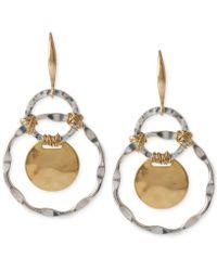 Robert Lee Morris - Two-tone Wire-wrapped Orbital Circle Drop Earrings - Lyst