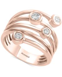 Effy Collection - Effyy® Diamond Coil Bezel Statement Ring (1/3 Ct. T.w.) In 14k Rose Gold - Lyst
