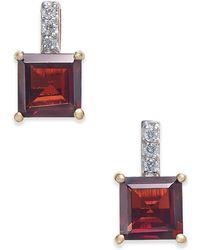 Macy's - Rhodolite Garnet (2-9/10 Ct. T.w.) & Diamond Accent Drop Earrings In 14k Gold - Lyst