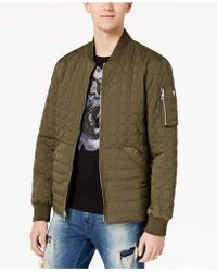 Guess - Joel Quilted Full-zip Bomber Jacket - Lyst