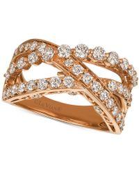 Le Vian - Diamond Crisscross Ring (1-1/3 Ct. T.w.) In 14k Rose Gold - Lyst