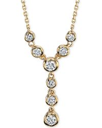 Macy's - Sirena Diamond Lariat Necklace (1/4 Ct. T.w.) In 14k White Or Yellow Gold - Lyst
