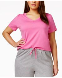 Hue - Plus Size V-neck Pajama Top - Lyst