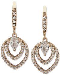 Jenny Packham - Crystal Openwork Drop Earrings - Lyst