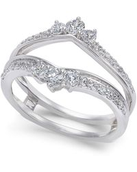 Macy's - Diamond Enhancer Ring Guard (5/8 Ct. T.w.) In 14k White Gold - Lyst
