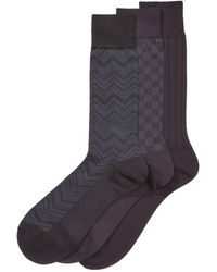 Perry Ellis - Men's 3-pk. Microfiber Patterned Socks - Lyst