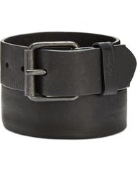BOSS - Jesse Distressed Casual Leather Belt - Lyst