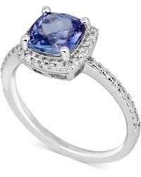 Macy's - Tanzanite (1-1/2 Ct. T.w.) & Diamond (1/4 Ct. T.w.) Ring In 14k White Gold - Lyst