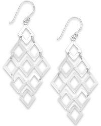 Giani Bernini - Diamond-shaped Chandelier Earrings In Sterling Silver, Created For Macy's - Lyst