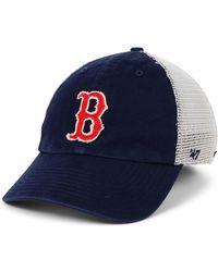 half off 681a8 8c295 47 Brand Atlanta Braves Prospect Mesh Closer Cap in Blue for Men - Lyst
