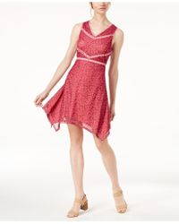 Love Scarlett - Petite Printed Handkerchief-hem Dress, Created For Macy's - Lyst