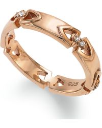 Proposition Love - 14k Rose Gold Over Silver Diamond Accent Wedding Band - Lyst