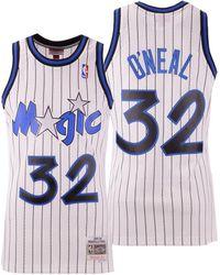b40db6e6f Mitchell & Ness - Shaquille O'neal Orlando Magic Hardwood Classic Swingman  Jersey - Lyst
