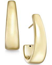 Macy's - J-hoop Earrings In 14k Gold - Lyst