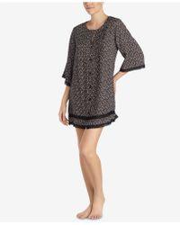 Betsey Johnson - Lace-trim Printed Sleepshirt - Lyst