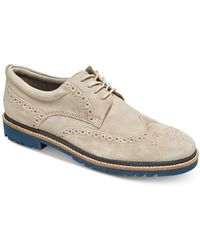 Rockport Marshall Wingtip Shoes - White