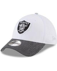 d19f2be4892 Lyst - Ktz Oakland Raiders (black white) Baseball Caps in White for Men