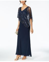 J Kara - Sequined-popover Gown - Lyst