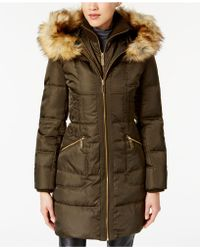 Vince Camuto - Faux-fur-trimmed Hooded Puffer Coat - Lyst