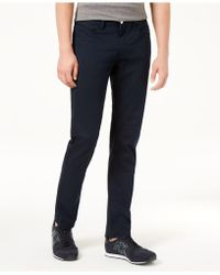 Armani Exchange - Stright Fit Stretch Nvy Pnts - Lyst