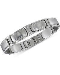 Macy's - Diamond Link Bracelet (1/10 Ct. T.w.) In Stainless Steel - Lyst