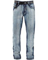 Ecko' Unltd Ecko Belted Denim Pant - Blue