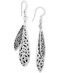 Lois Hill - Scroll Work & Filigree Double Drop Earrings In Sterling Silver - Lyst