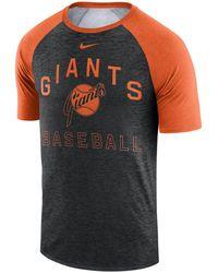 5d84f59860b Nike San Francisco Giants Dri-fit Sublimated Raglan T-shirt in Black ...