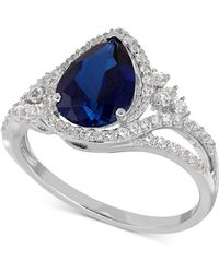 Macy's - Lab-created Sapphire (2-3/8 Ct. T.w.) And White Sapphire (3/8 Ct. T.w.) Ring In Sterling Silver - Lyst
