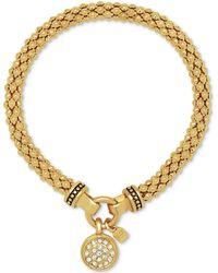 Nine West | Pavé Charm Weave-style Stretch Bracelet | Lyst