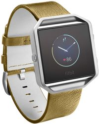 Fitbit - Men's Blaze Leather Accessory Band - Lyst