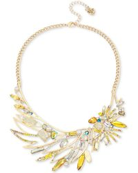 Betsey Johnson | Gold-tone Multi-stone Cockatoo Statement Necklace | Lyst