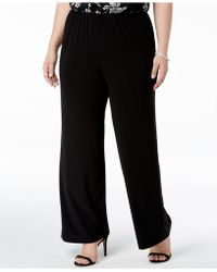 Alex Evenings - Plus Size Wide-leg Trousers - Lyst