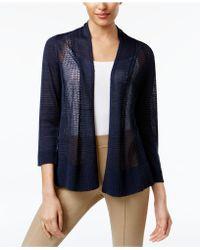 Alfani - Sheer Mixed-knit Cardigan - Lyst