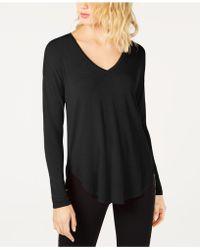 INC International Concepts - I.n.c. V-neck Curved-hem T-shirt, Created For Macy's - Lyst