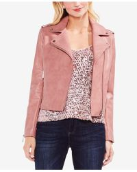 Vince Camuto - Faux-leather Moto Jacket - Lyst