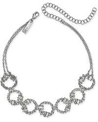 "INC International Concepts - Silver-tone Crystal Link Choker Necklace, 11"" + 4"" Extender, Created For Macy's - Lyst"