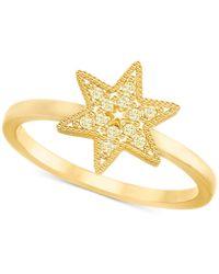 Swarovski - Gold-tone Pavé Star Ring - Lyst