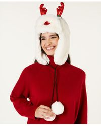 Charter Club - Holly The Reindeer Trapper Hat, Created For Macy's - Lyst