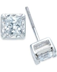 Macy's | Diamond Stud Earrings (1 Ct. T.w.) In 14k White Gold | Lyst