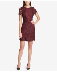 Kensie - Two-tone Lace A-line Dress - Lyst