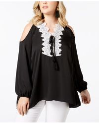 Love Scarlett - Plus Size Cold-shoulder Tunic - Lyst