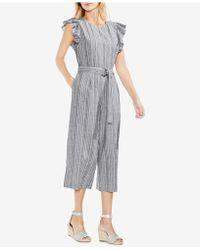 Vince Camuto - Ruffled Cropped Jumpsuit - Lyst