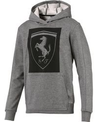 PUMA - Ferrari Big-shield Hoodie - Lyst