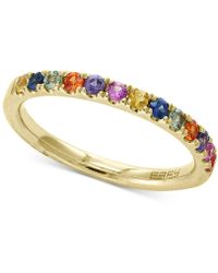 Effy Collection - Watercolors By Effy® Multi-sapphire Band (5/8 Ct. T.w.) In 14k Gold - Lyst