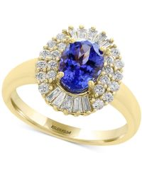 Effy Collection - Tanzanite (1-1/8 Ct. T.w.) And Diamond (1/2 Ct. T.w.) Ring In 14k Gold - Lyst