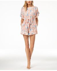 French Connection - Printed Open-back Romper - Lyst