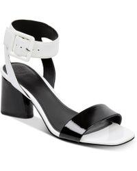 Guess - Saloni Metallic City Dress Sandals - Lyst